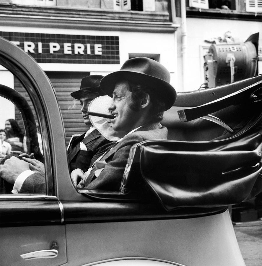 Jean-paul Belmondo And Alain Delon In Photograph by Keystone-france
