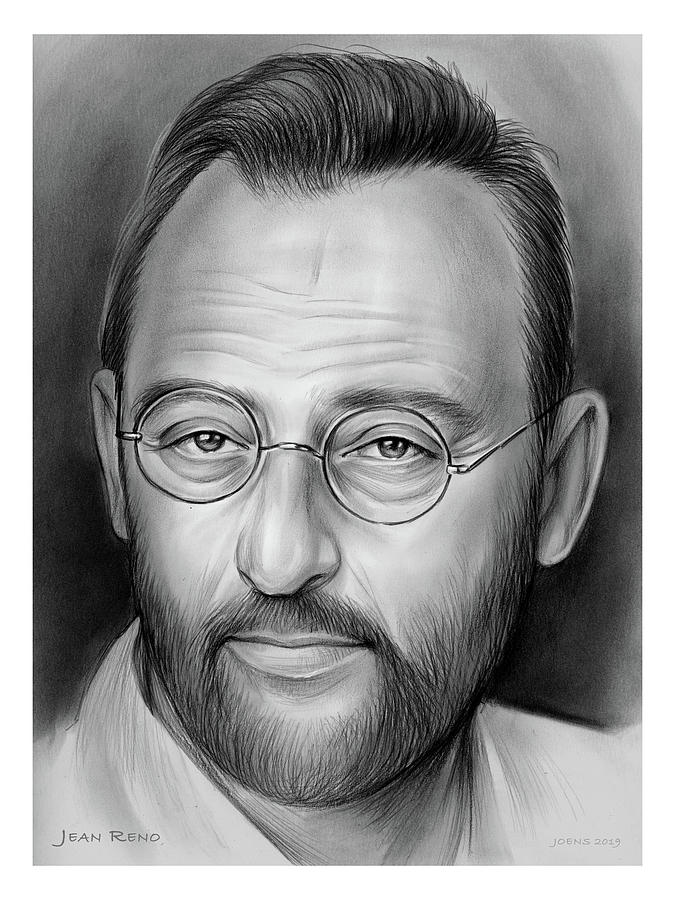 Jean Reno Drawing