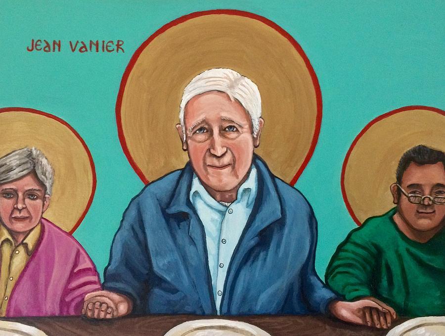 Jean Vanier Painting by Kelly Latimore