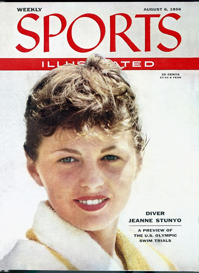 Jeanne Stunyo, 1956 Aau National Outdoor Meet Sports Illustrated Cover Photograph by Sports Illustrated