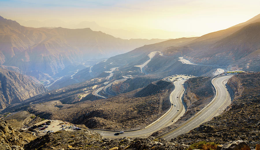 Jebel Jais Road In Uae Photograph