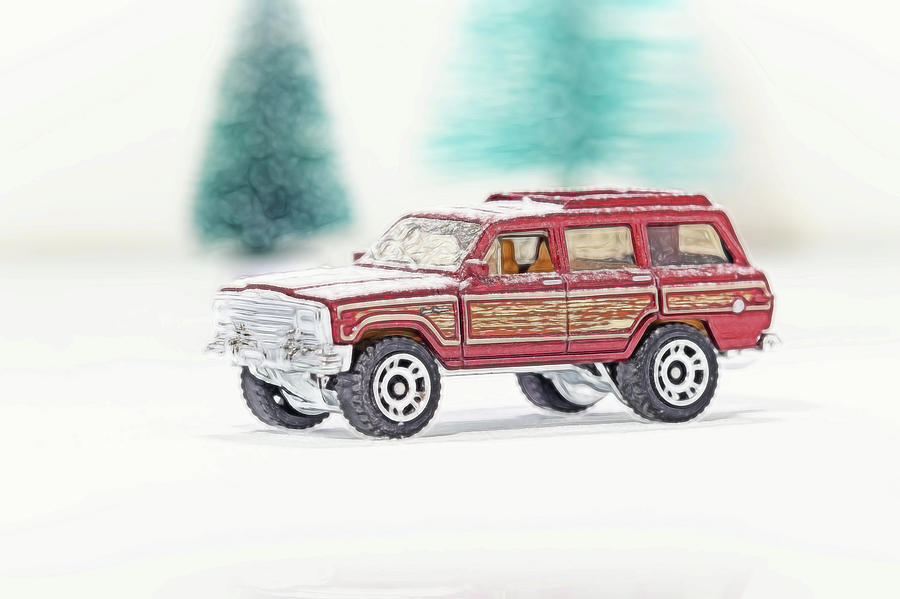 Jeep Wagoner with Snow by Wade Brooks