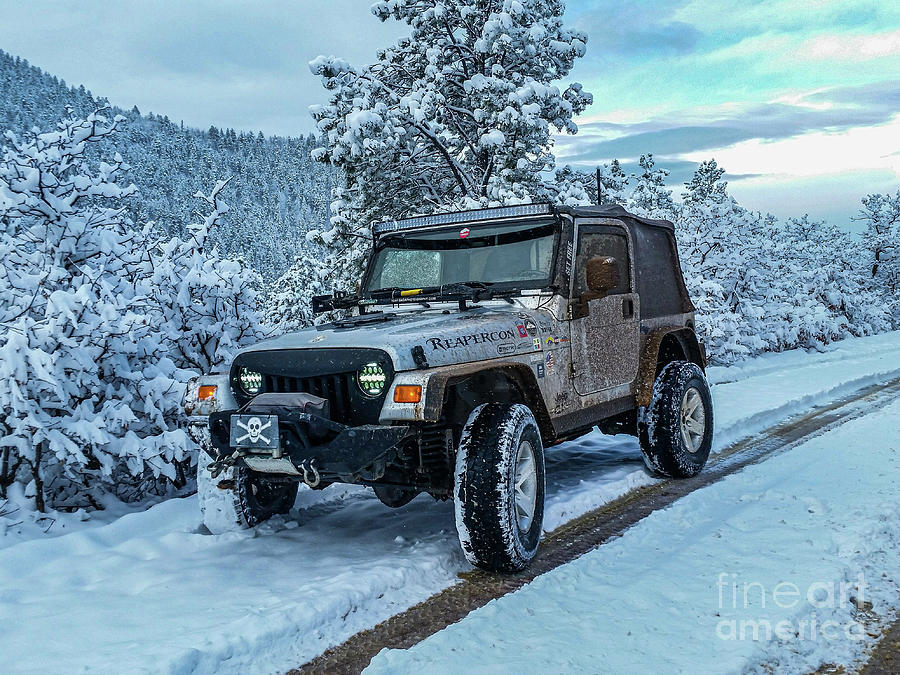Jeepin In The Snow by Tony Baca