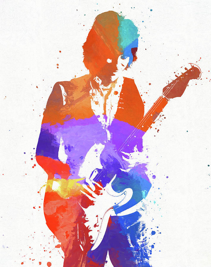 Jeff Beck Painting - Jeff Beck by Dan Sproul