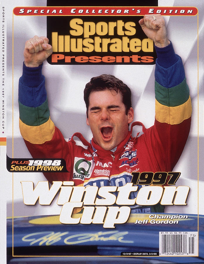 Jeff Gordon, 1997 Winston Cup Champion Sports Illustrated Cover Photograph by Sports Illustrated