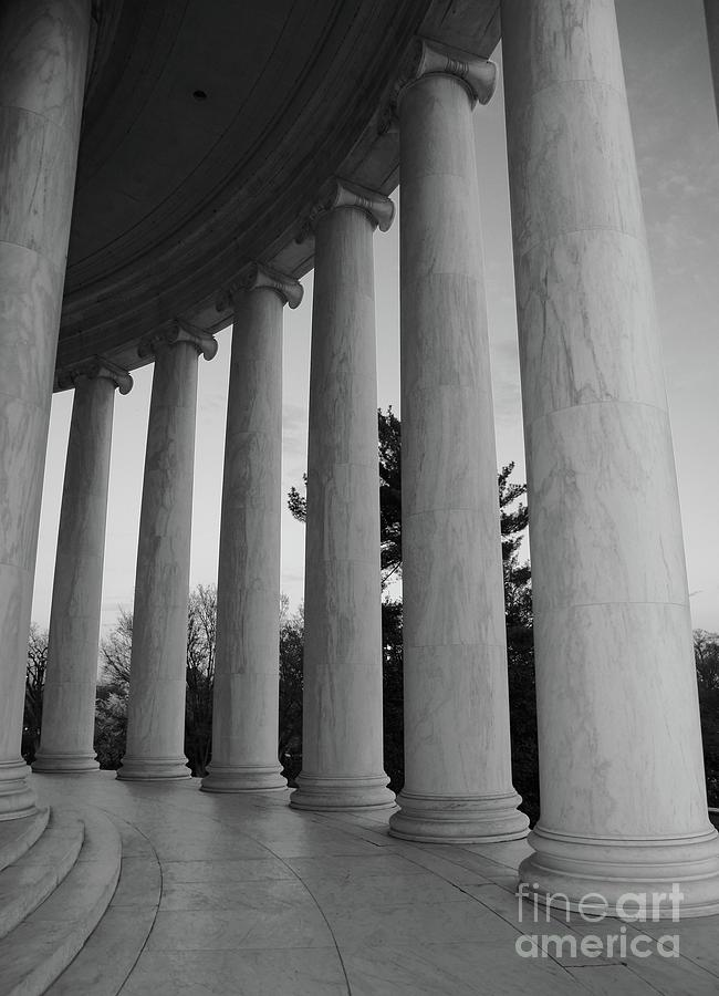Jefferson Photograph - Jefferson Memorial In Black And White by Megan Cohen