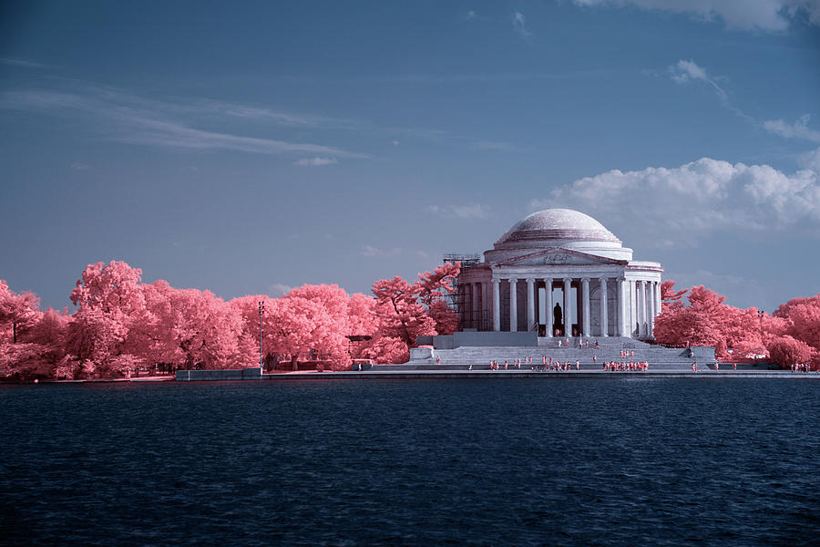 Jefferson Memorial in Infrared by Lynda Fowler