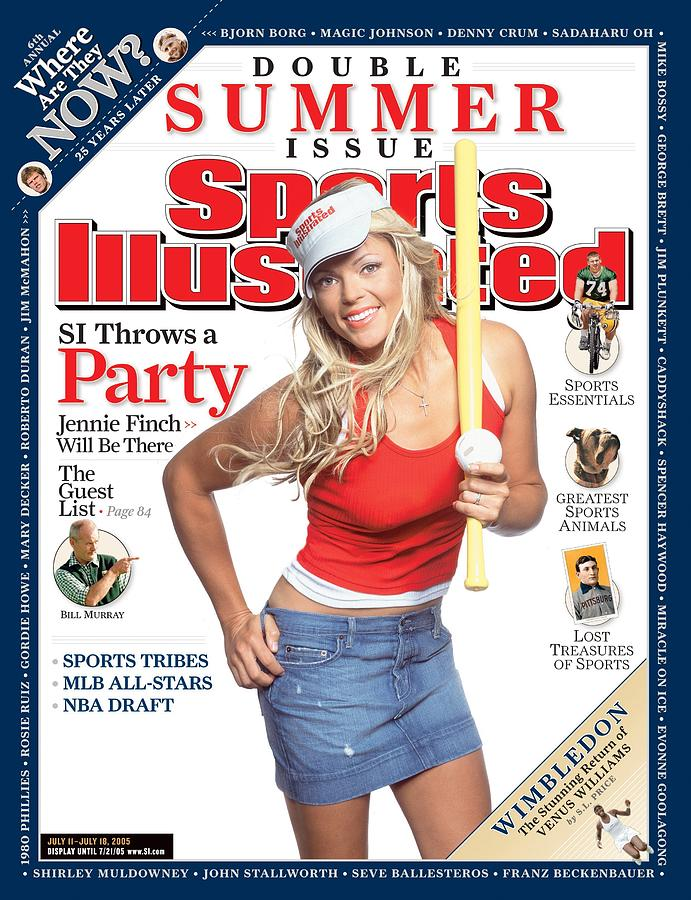 Jennie Finch, Summer Double Issue Sports Illustrated Cover Photograph by Sports Illustrated