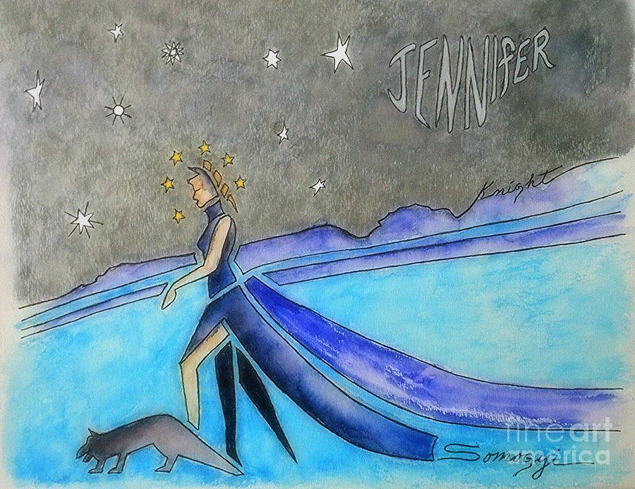 Jennifer Knight Album Cover #2 by Jayne Somogy