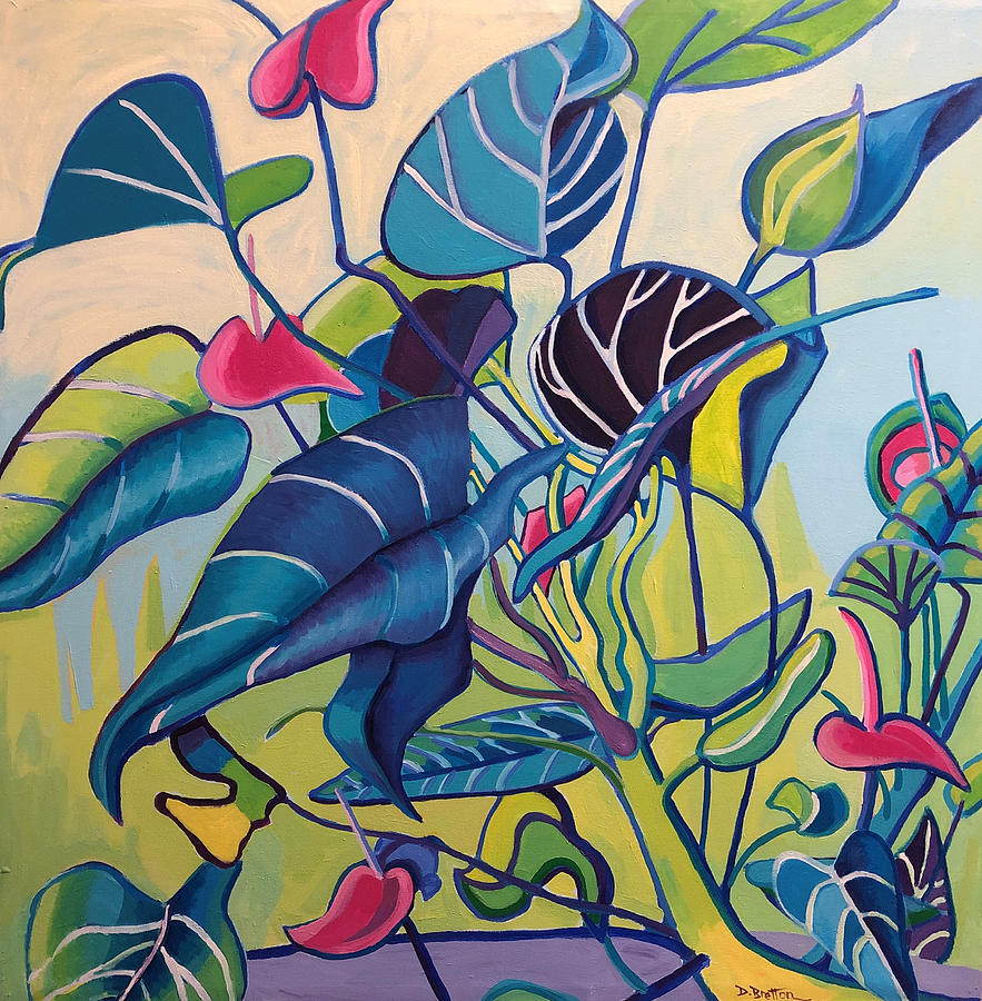 Jungle Painting - Jens Jungle by Debra Bretton Robinson