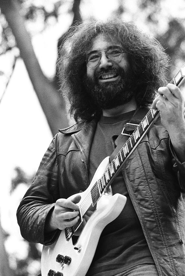 Jerry Garcia Performs Live Photograph by Richard Mccaffrey
