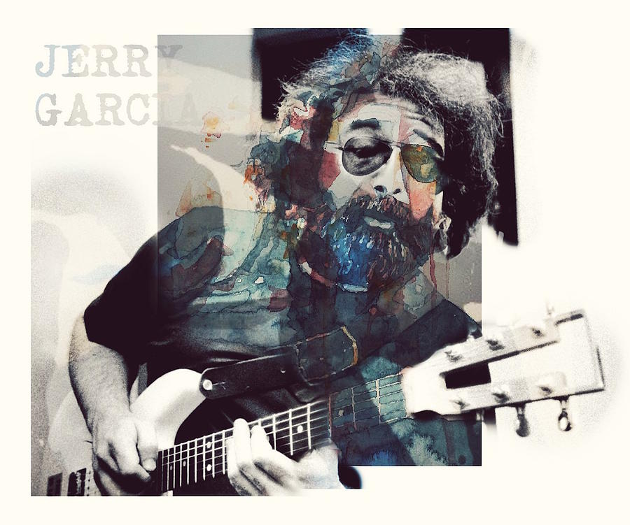 Jerry Garcia Mixed Media - Jerry Garcia - Retro  by Paul Lovering