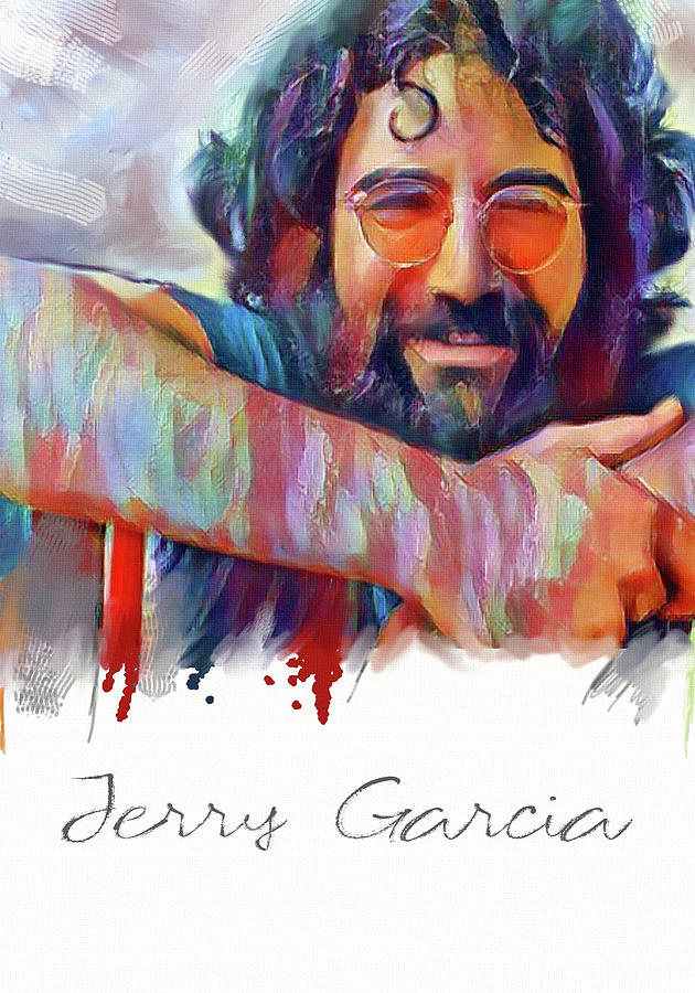 Garcia Mixed Media - jerry gercia - Original Painting Print by Md Jo