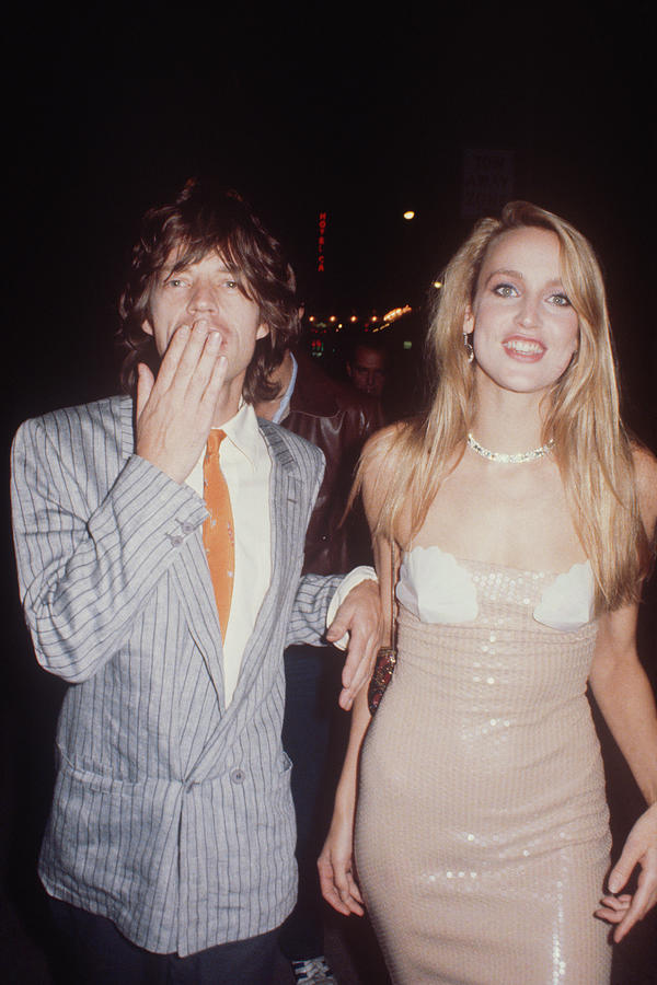 Jerry Hall And Mick Jagger Photograph by Art Zelin