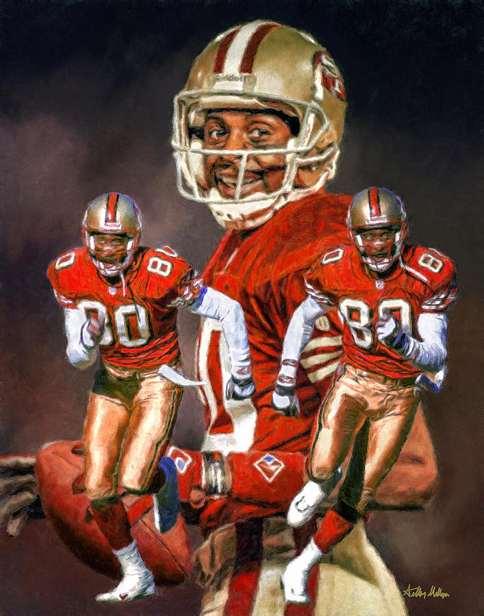 399da07fa71 Jerry Rice Painting - Jerry Rice San Francisco 49ers Nfl Football Art  Collage Print by Arthur