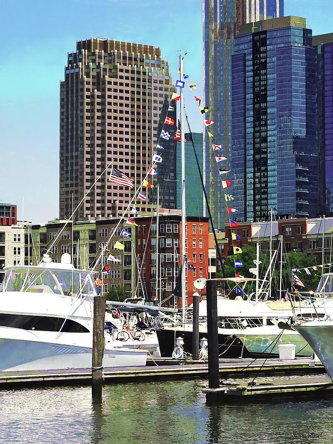 Jersey City NJ - Boat Pennants by Susan Savad
