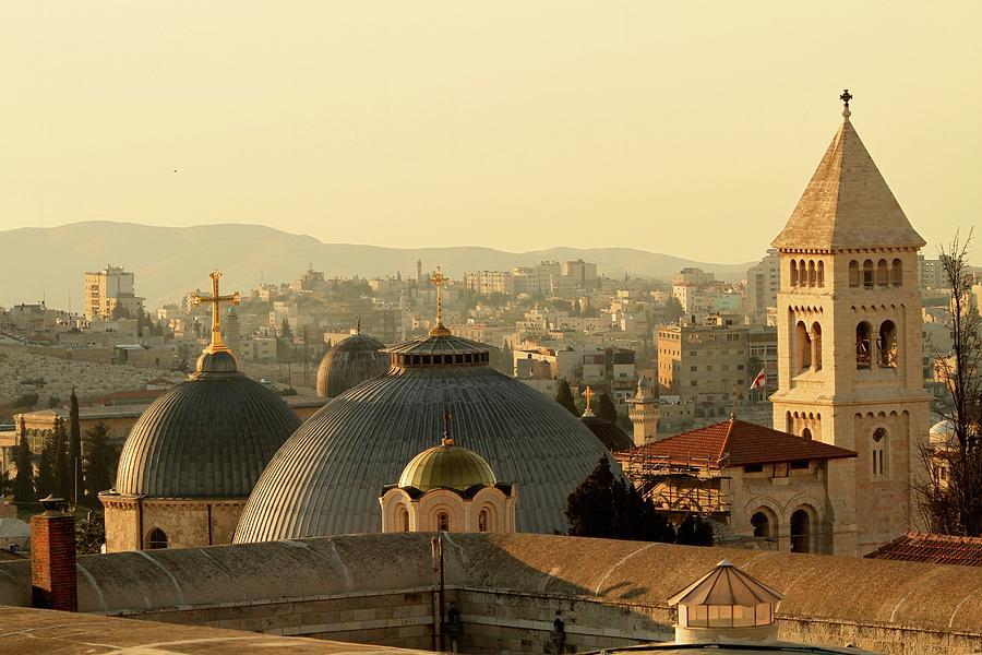 Jerusalem Churches On The Skyline Photograph by Picturejohn