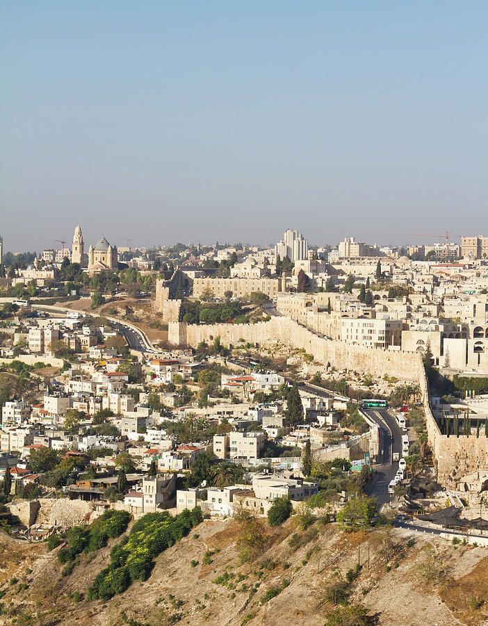Jerusalem City Wall From A Distance Photograph by Raquel Lonas