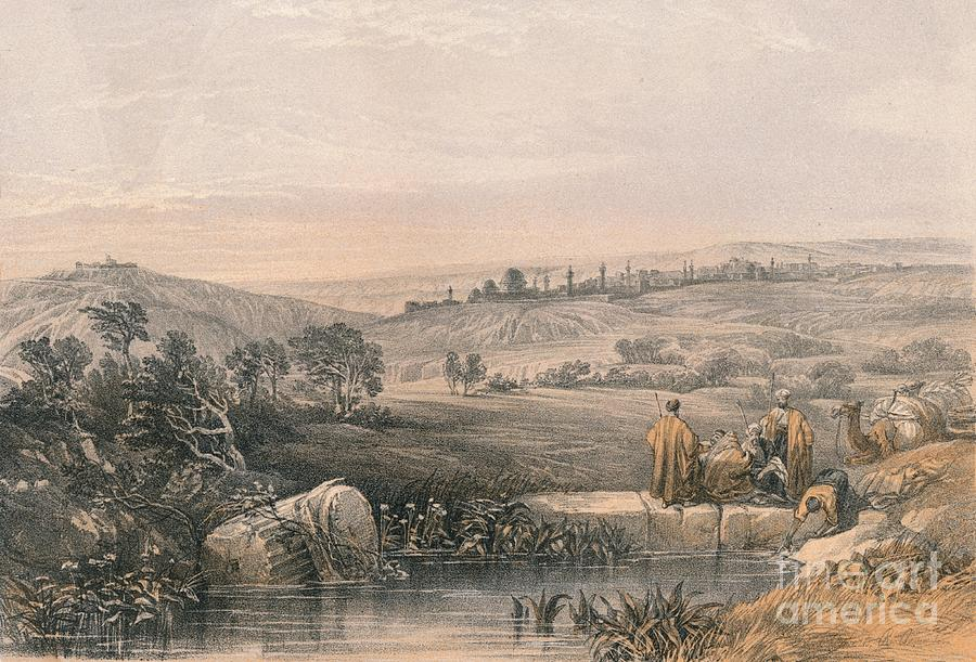 Jerusalem From The North Drawing by Print Collector