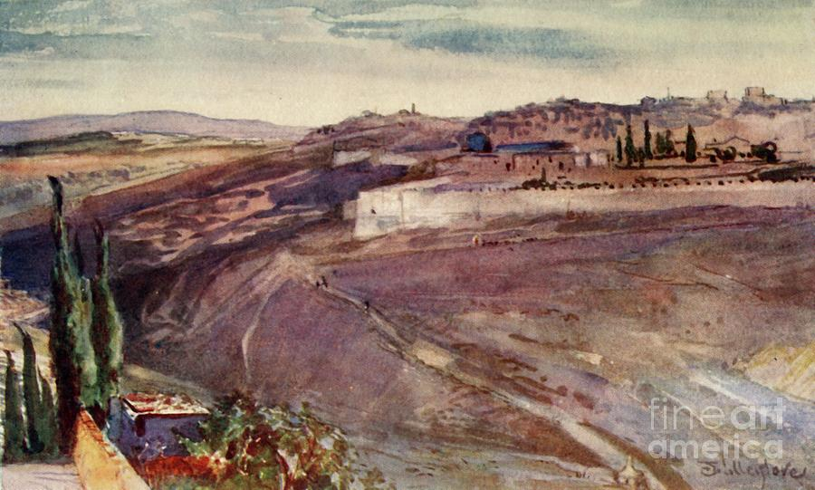 Jerusalem From The Traditional Spot Drawing by Print Collector