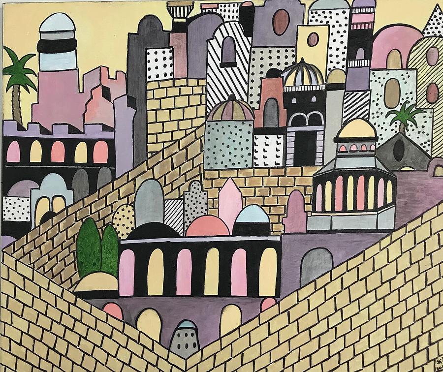 Jerusalem Painting - Jerusalem  by Hila Abada