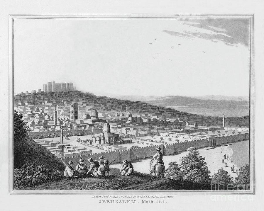 Jerusalem. Matthew. 21. 1, 1830 Drawing by Print Collector