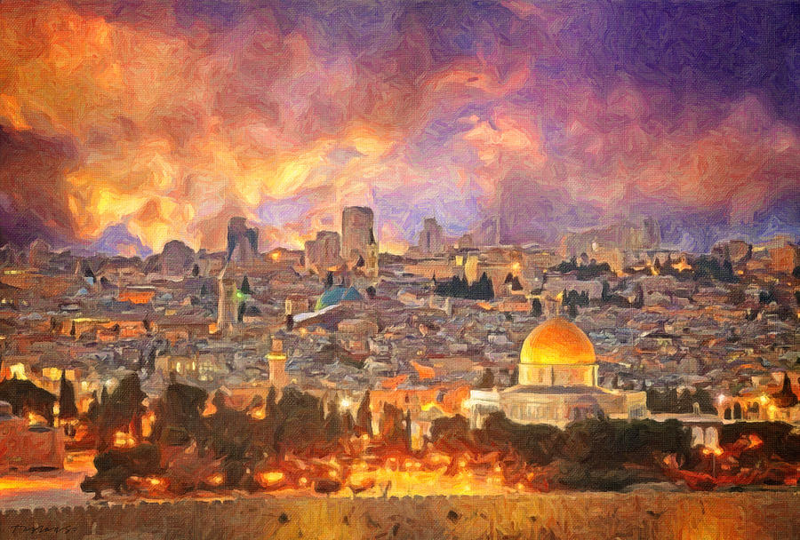 Jerusalem Skyline by Zapista Zapista