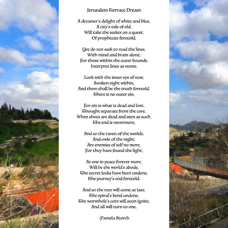 Jerusalem Terrace Dream Poem
