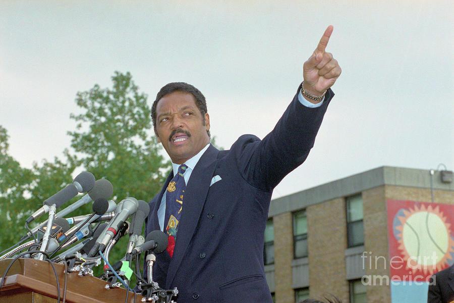 Jesse Jackson Giving A Speech Photograph by Bettmann
