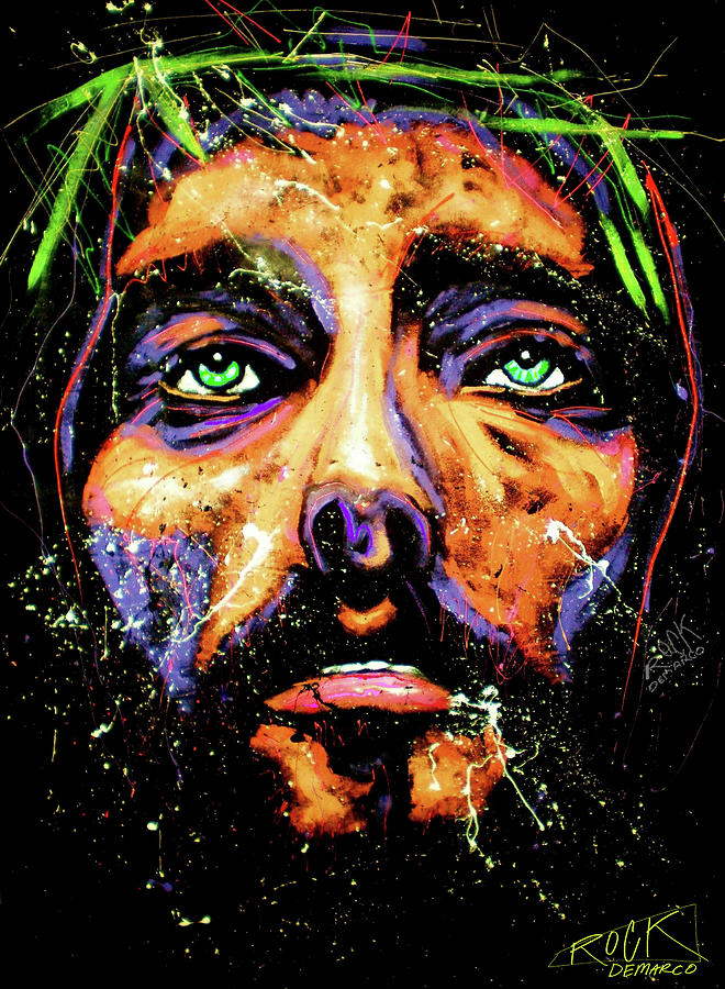 Modern Painting - Jesus 001 by Rock Demarco