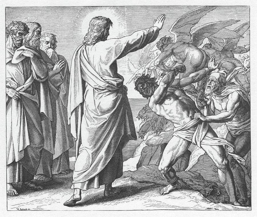 Message-Lumière de la Famille Myriam  - Page 5 Jesus-casts-out-the-demons-gospel-of-matthew-julius-schnoor-von-carolsfeld