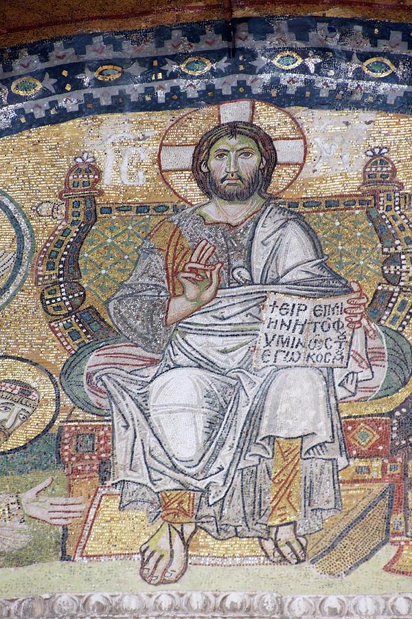 Jesus Christ sitting in judgement by Steve Estvanik