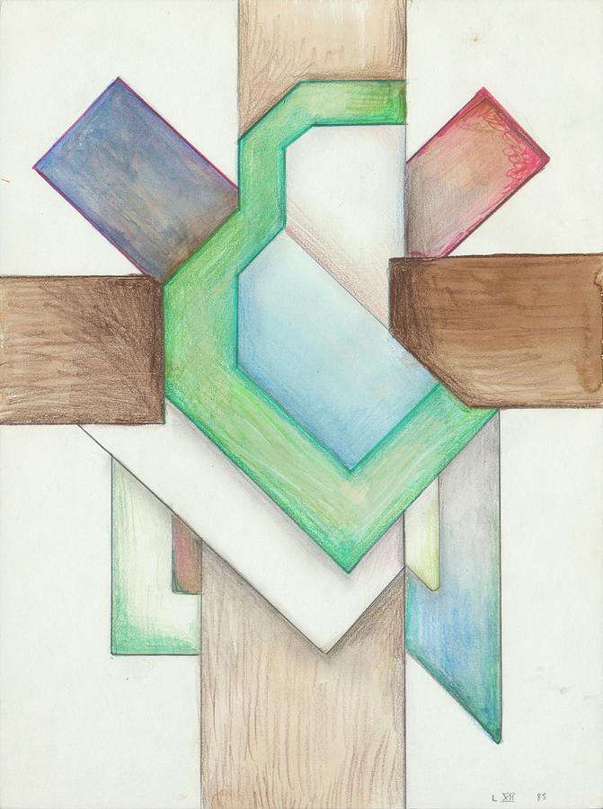 Jesus Cross L XII 85 by Willy Wiedmann
