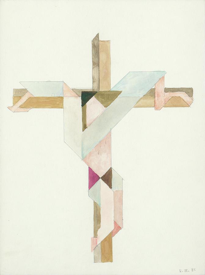 Jesus Cross V III 85 by Willy Wiedmann