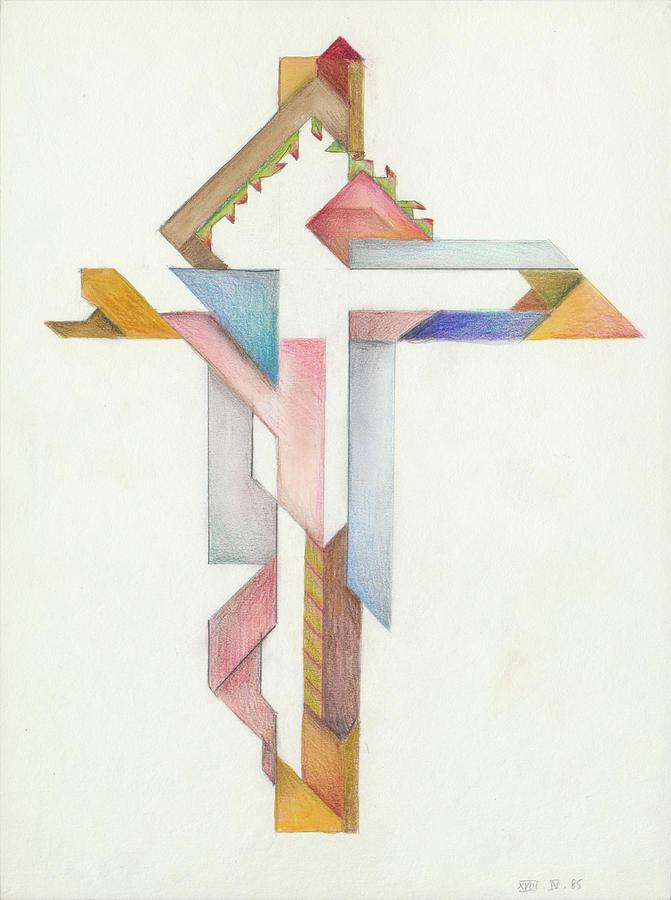 Jesus Cross XVIII IV 85 by Willy Wiedmann