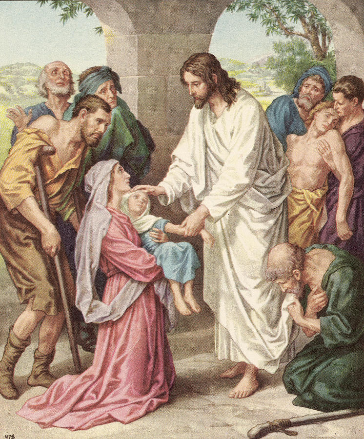 Jesus Healing The Sick Photograph by Kean Collection