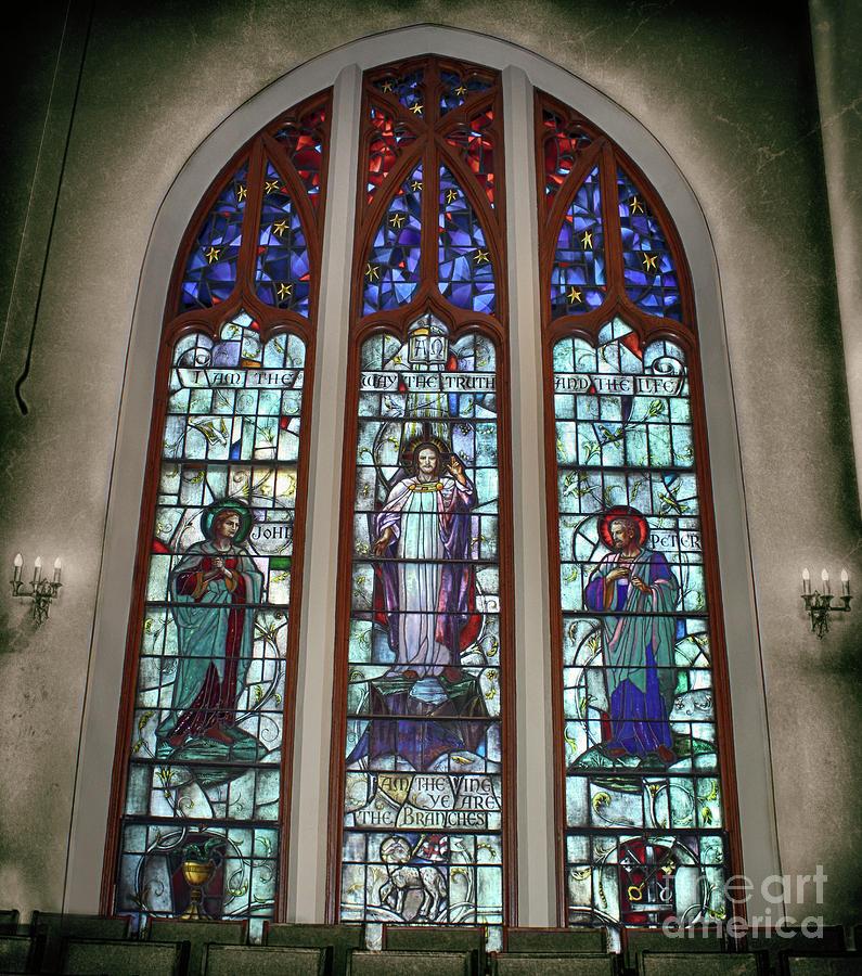 Jesus Photograph - Jesus John And Peter by Steven Digman