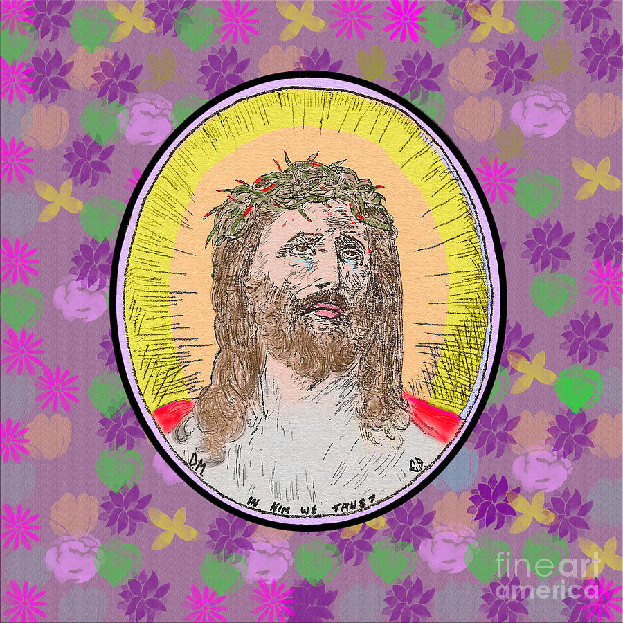 Jesus on Flowers by Donna L Munro