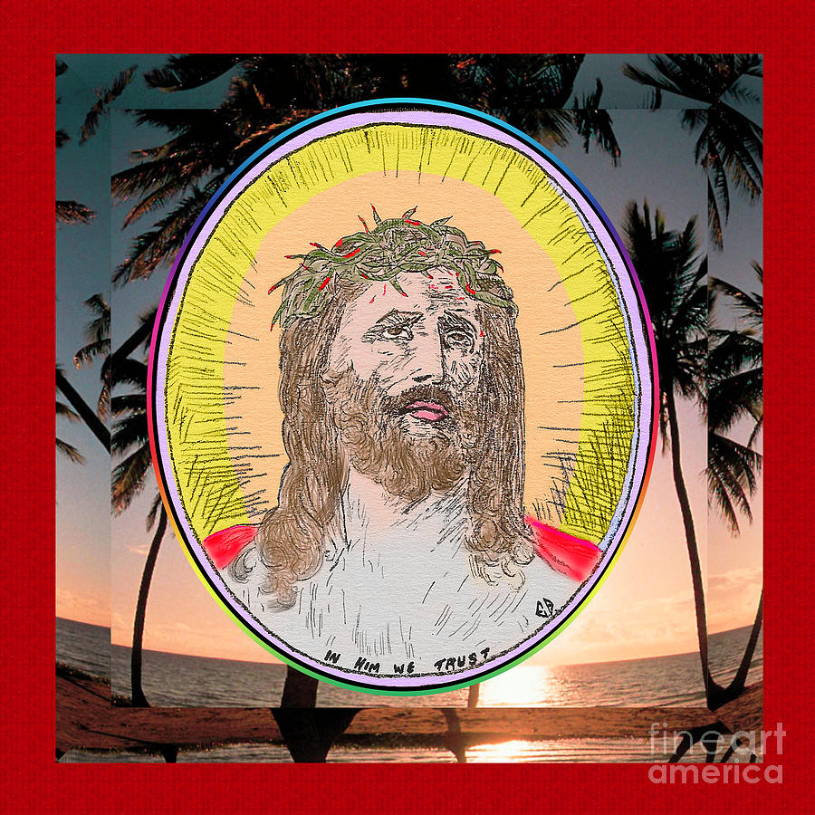Jesus on Palms by Donna L Munro