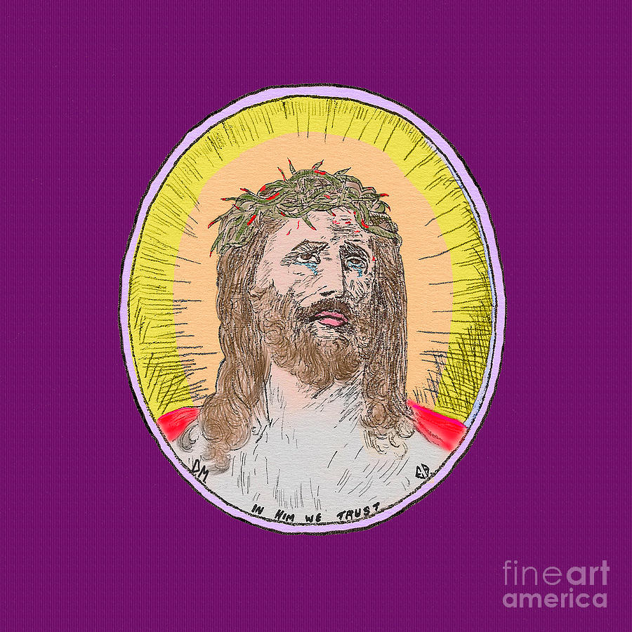 Jesus on Purple by Donna L Munro