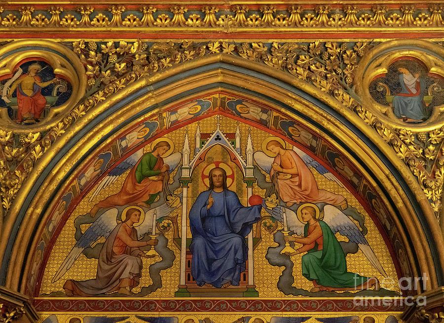 Jesus on the Throne Sainte Chapelle Paris France  by Wayne Moran