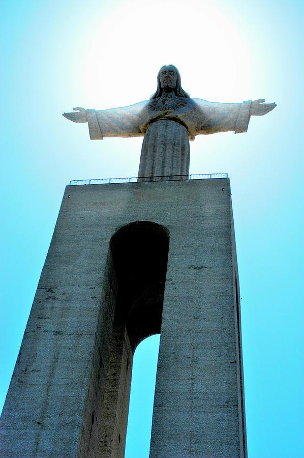 Jesus Over Lisbon 2 Photograph