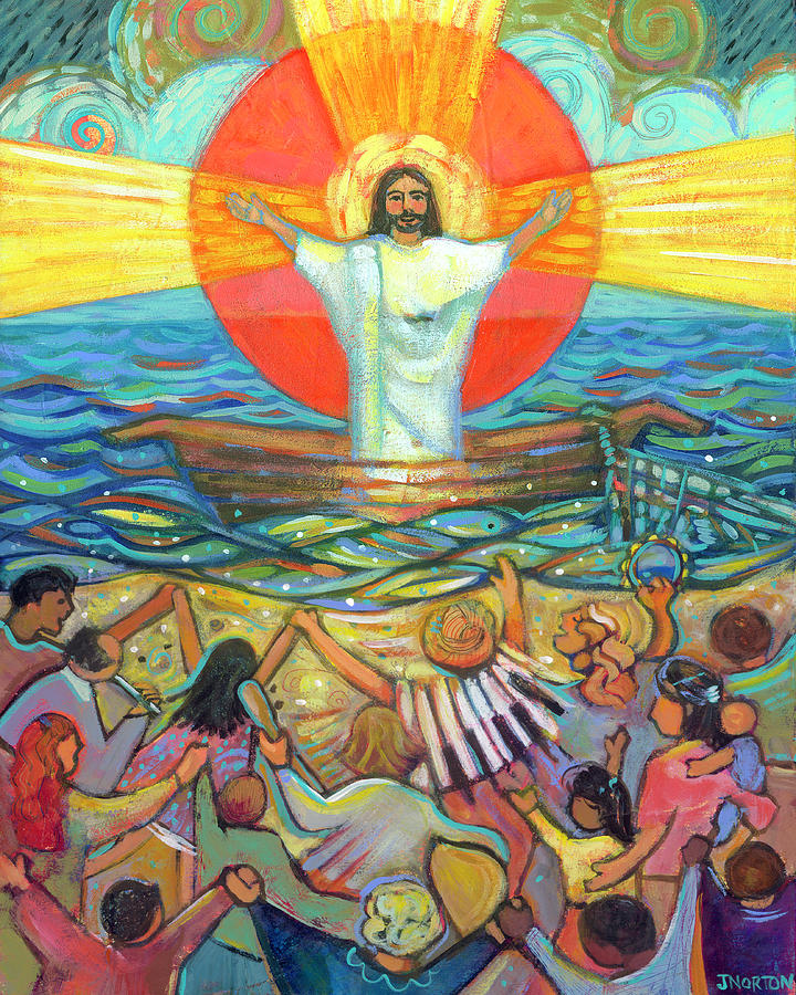 Jesus Preaches To The Choir Painting