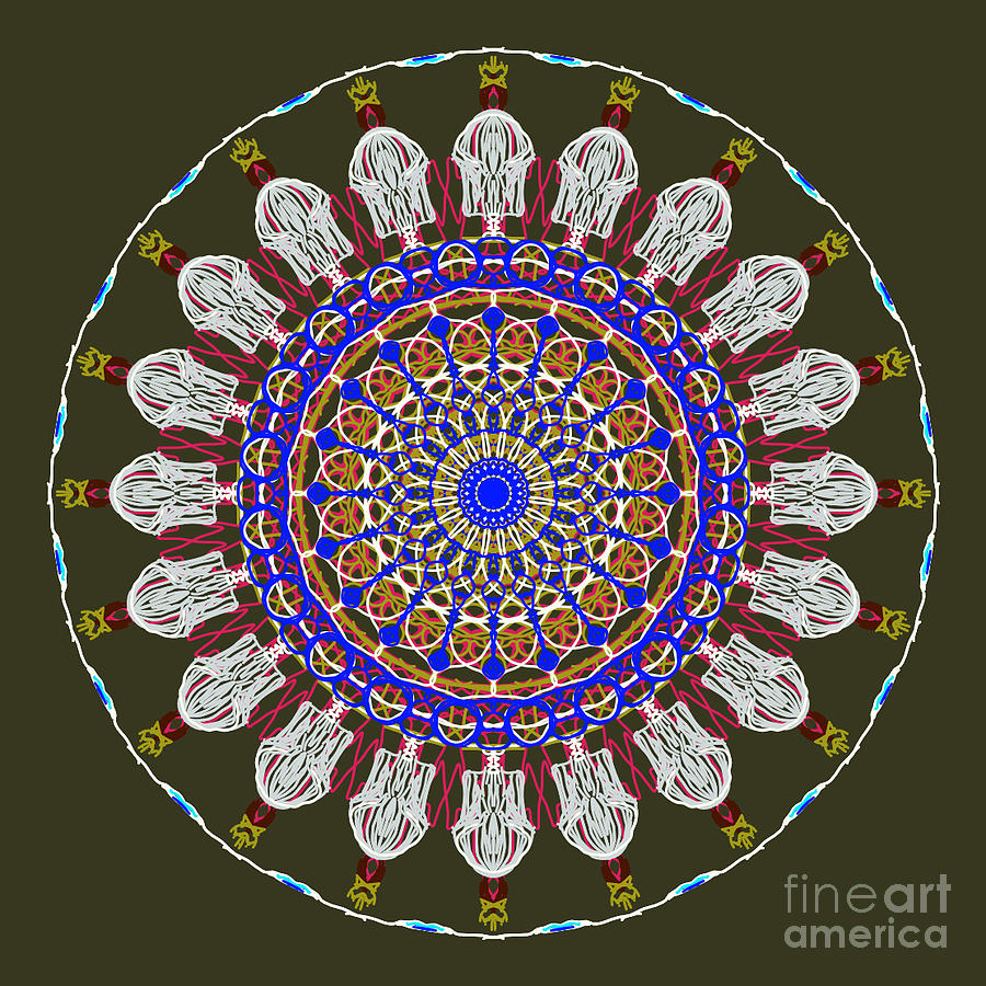 Jesus The King Of Kings Mandala by Catherine Lott