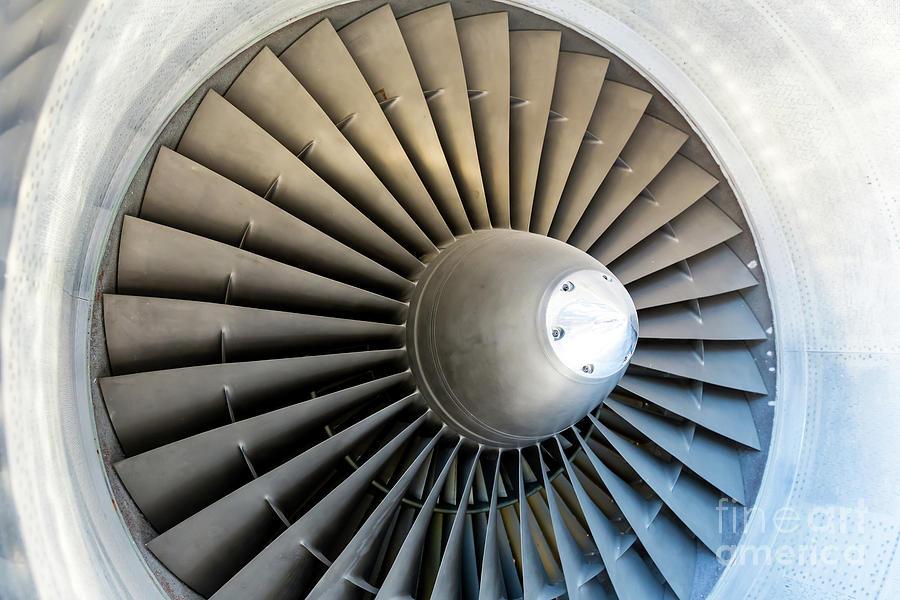 Jet Engine Blades Closeup Photograph by Nomadsoul1