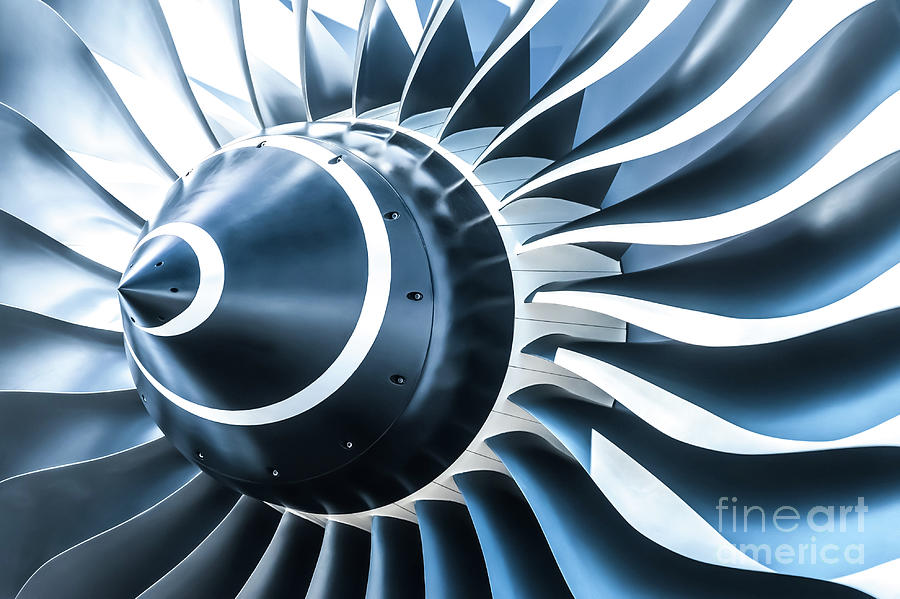 Jet Engine Photograph by The guitar mann