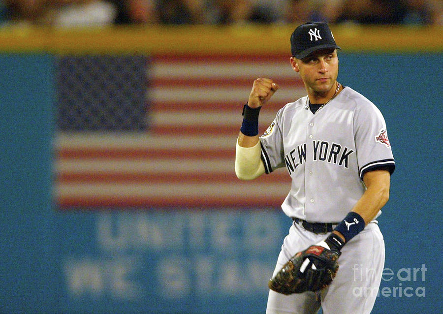 Jeter Pumps His Fist Photograph by Jed Jacobsohn