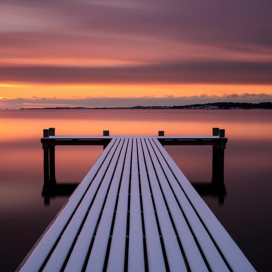 Jetty At Sunset Photograph by Johner Images