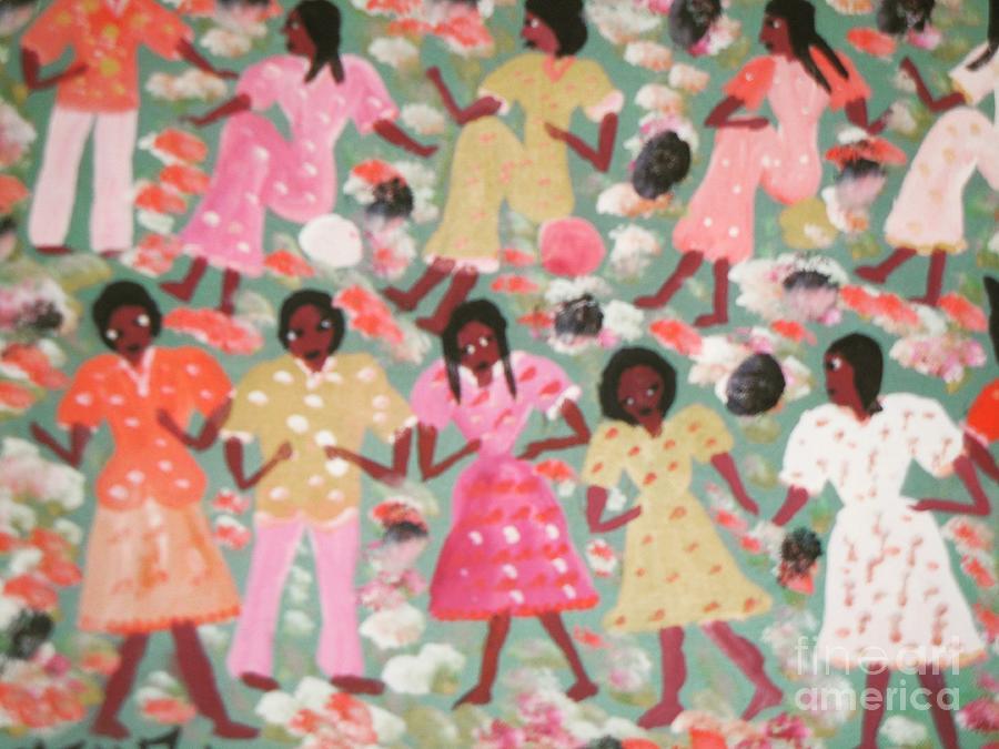 Ayiiboo Jeunes Filles Painting