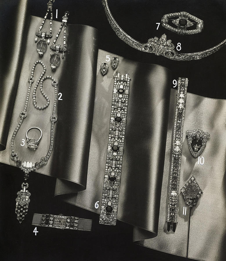 Elegant Jewelry From Tiffany And Company Photograph by Anton Bruehl